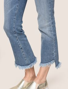 ARMANI EXCHANGE FRAYED HIGH-LOW HEM FLARE JEAN Flare Jean Woman b