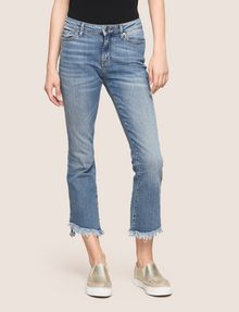 ARMANI EXCHANGE FRAYED HIGH-LOW HEM FLARE JEAN Flare Jean Woman f
