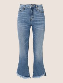 ARMANI EXCHANGE FRAYED HIGH-LOW HEM FLARE JEAN Flare Jean Woman r