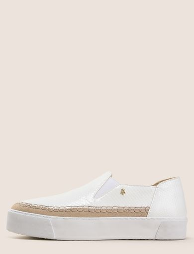 SNAKE-EMBOSSED SLIP-ON SNEAKERS