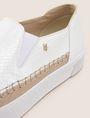 ARMANI EXCHANGE SNAKE-EMBOSSED SLIP-ON SNEAKERS SLIP-ON Woman a