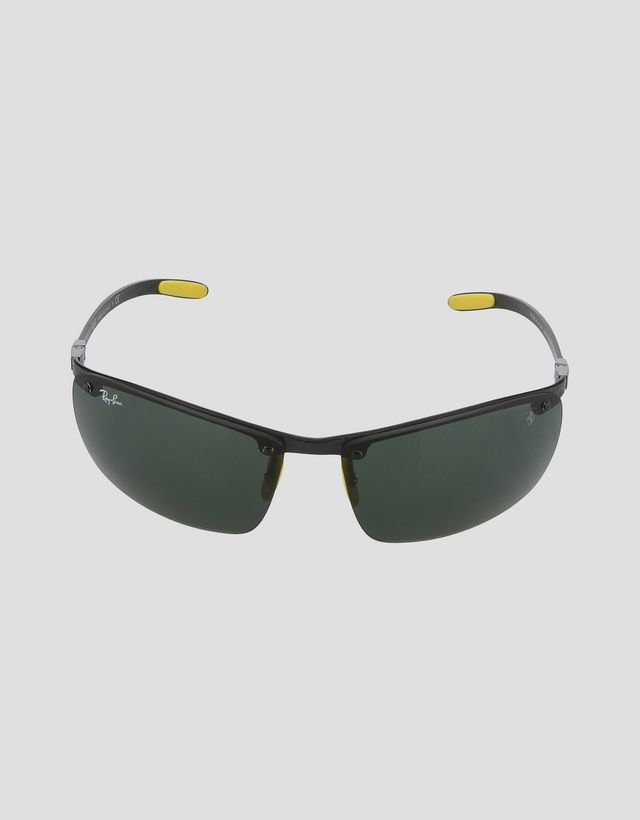 Scuderia Ferrari Online Store - Ray-Ban x Scuderia Ferrari Full Bar Carbon Fiber Black 0RB8305M -
