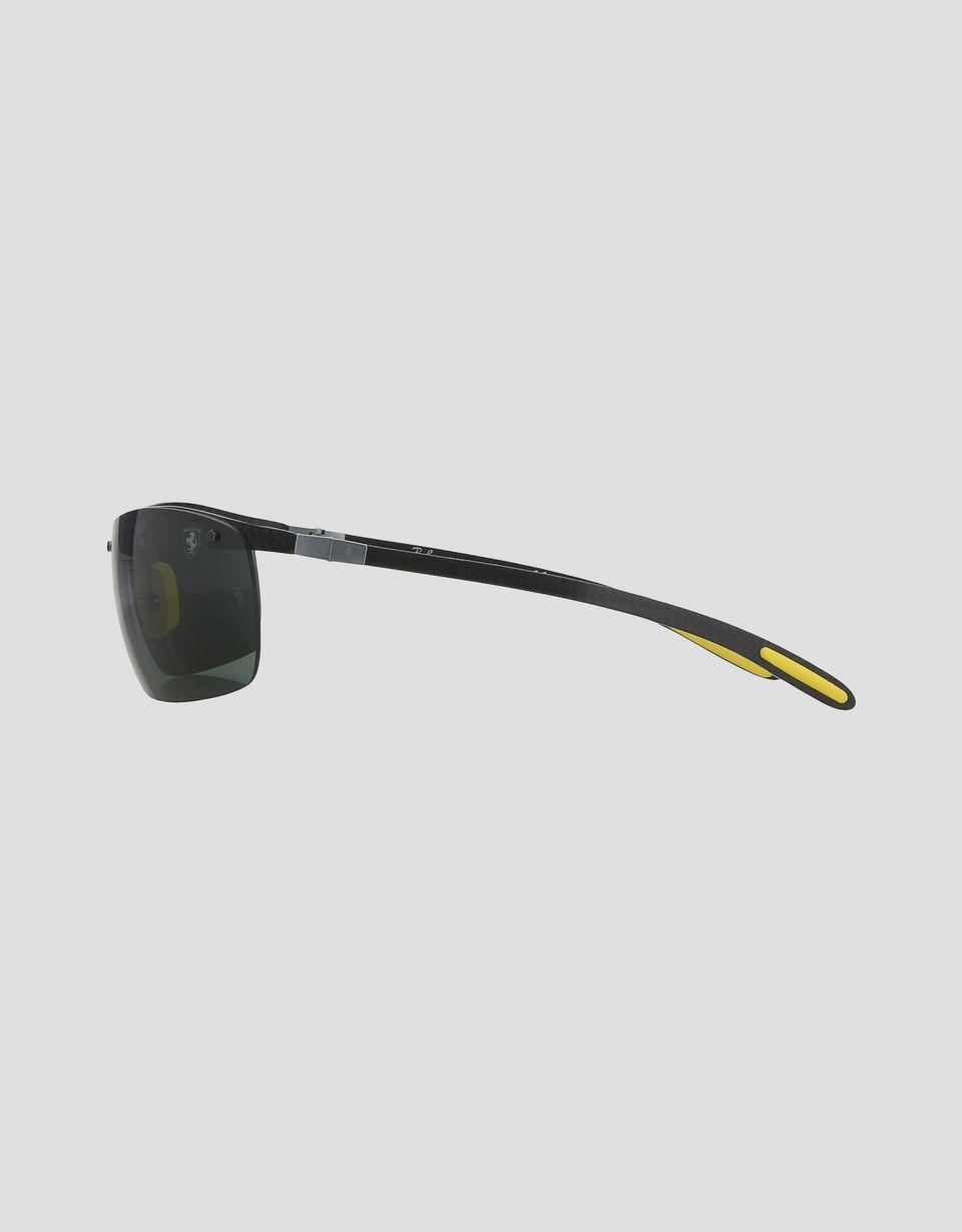 Scuderia Ferrari Online Store - Ray-Ban for Scuderia Ferrari Full Bar Carbon Fibre nero 0RB8305M - Occhiali da Sole