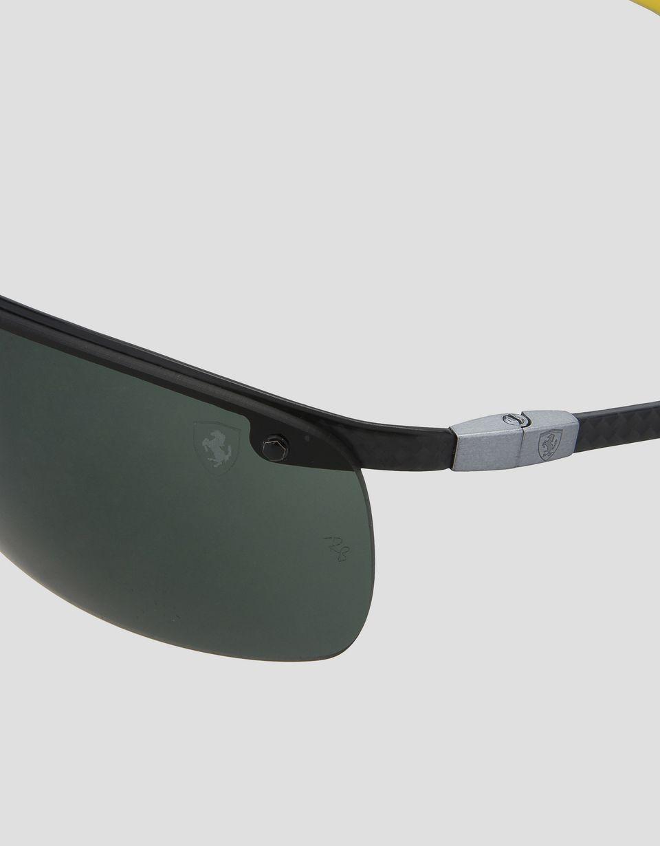 Scuderia Ferrari Online Store - Ray-Ban x Scuderia Ferrari Full Bar Carbon Fiber Black 0RB8305M - Sunglasses