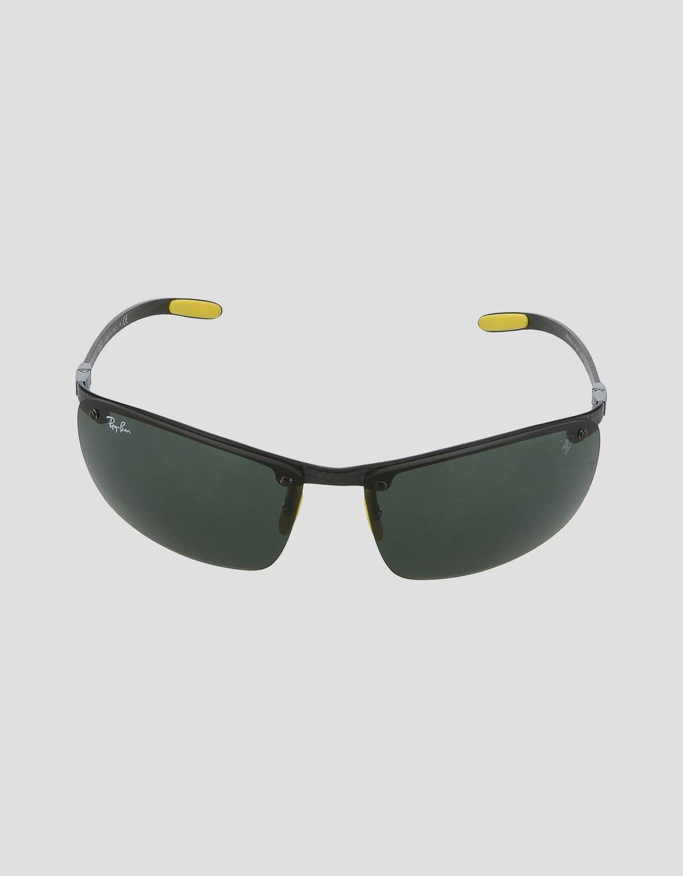 Scuderia Ferrari Online Store - Ray-Ban x Scuderia Ferrari Full Bar Carbon Fibre Black 0RB8305M - Sunglasses