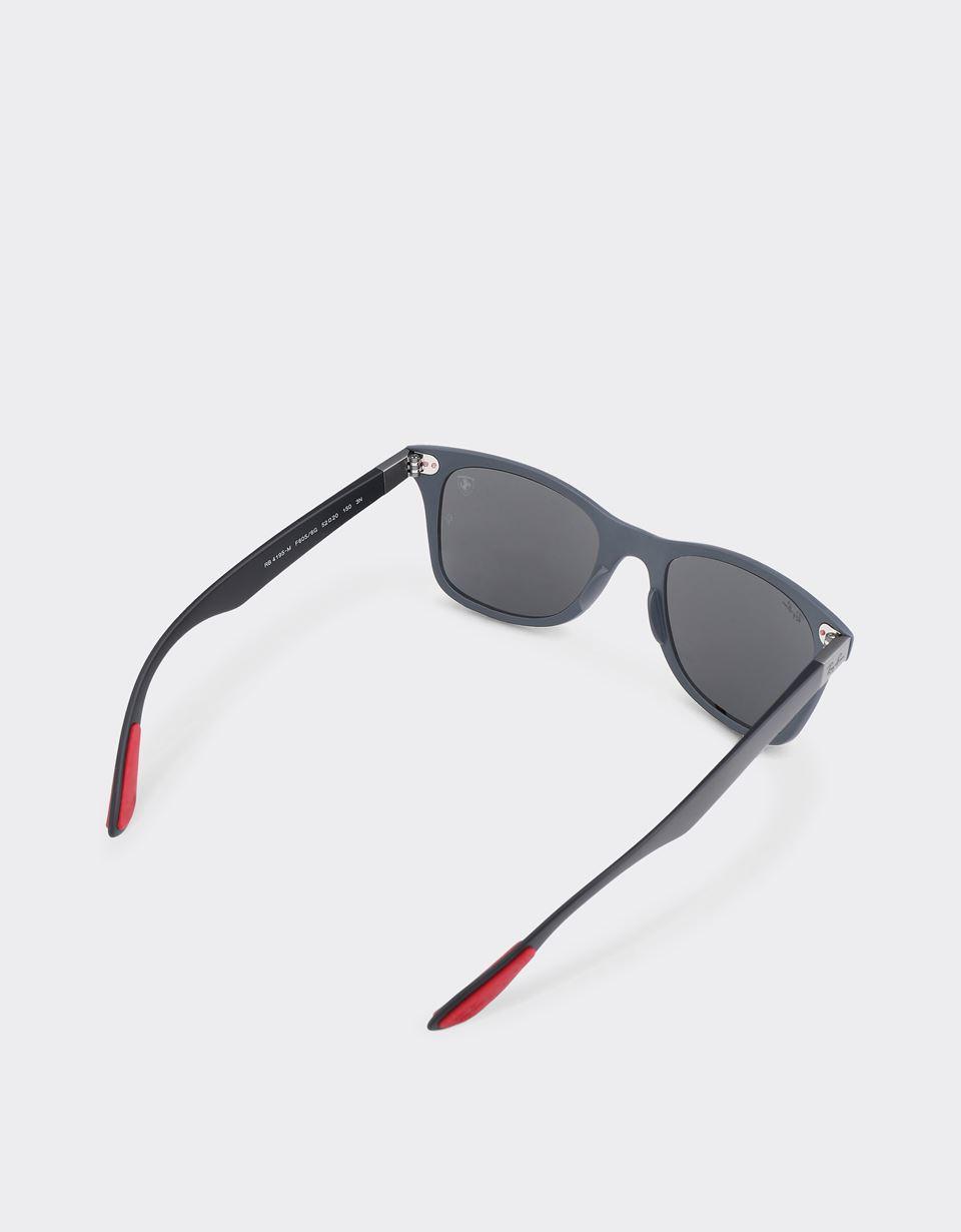 Scuderia Ferrari Online Store - Ray-Ban x Scuderia Ferrari Wayfarer Liteforce Matte Gray 0RB4195M - Sunglasses
