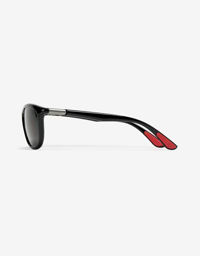 Scuderia Ferrari Online Store - Ray-Ban x Scuderia Ferrari Glossy Black RB8351M - Sunglasses