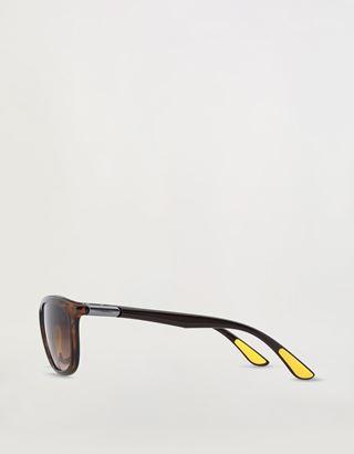 Scuderia Ferrari Online Store - Lunettes de soleil Ray-Ban for Scuderia Ferrari 0RB8351M couleur marron havane - Lunettes de soleil