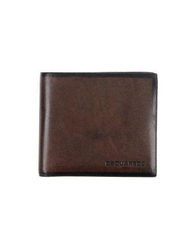 DSQUARED2 メンズ 財布 ダークブラウン 革