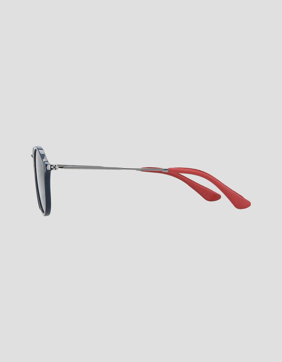 Scuderia Ferrari Online Store - Ray-Ban for Scuderia Ferrari Round Combo Anthrazitgrau 0RB2447NM - Sonnenbrillen