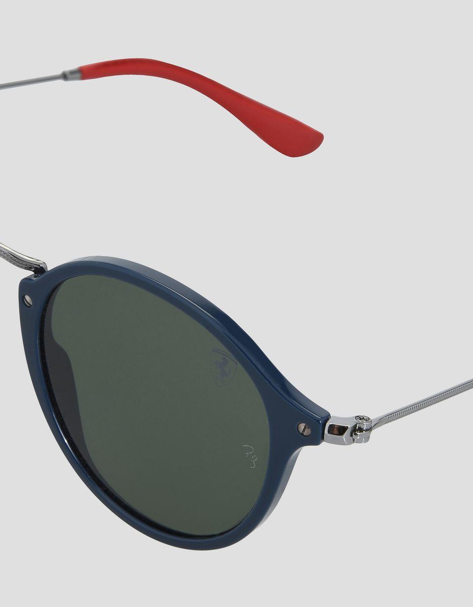 Scuderia Ferrari Online Store - Ray-Ban x Scuderia Ferrari Round Combo Gunmetal 0RB2447NM - Sunglasses