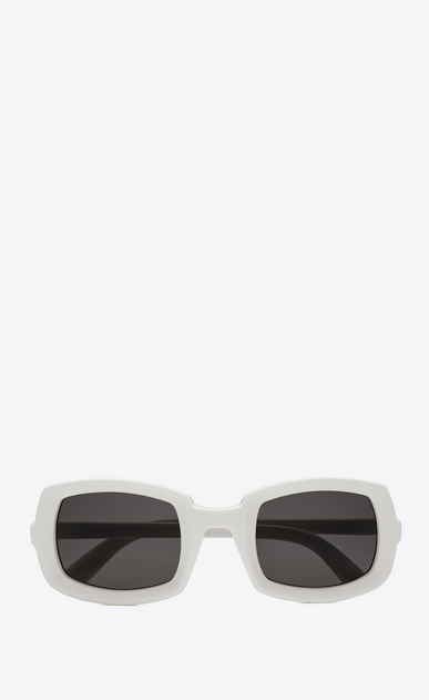 SAINT LAURENT NEW WAVE Woman new wave 245 sunglasses in ivory acetate with gray lenses a_V4