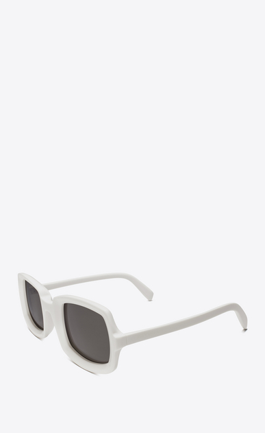 SAINT LAURENT NEW WAVE Woman new wave 245 sunglasses in ivory acetate with gray lenses b_V4