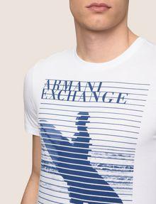 ARMANI EXCHANGE SHUTTER SURFER LOGO TEE Logo T-shirt Man b