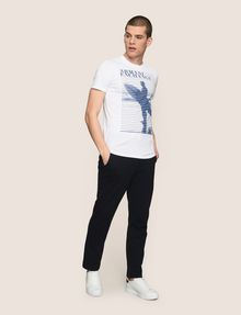 ARMANI EXCHANGE SHUTTER SURFER LOGO TEE Logo T-shirt Man d
