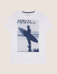 ARMANI EXCHANGE SHUTTER SURFER LOGO TEE Logo T-shirt Man r
