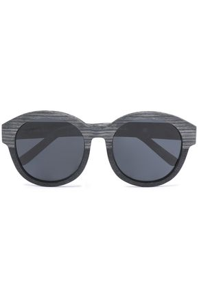 3.1 PHILLIP LIM Round-frame wood sunglasses
