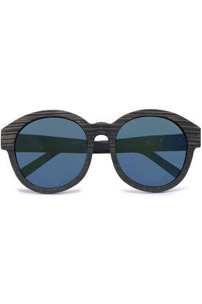 3.1 PHILLIP LIM Round-frame wooden sunglasses