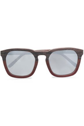 3.1 PHILLIP LIM D-frame wood sunglasses