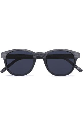 3.1 PHILLIP LIM D-framed wooden sunglasses