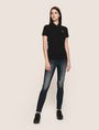 ARMANI EXCHANGE CLASSIC CIRCLE INSIGNIA POLO S/L Knit Top Woman d
