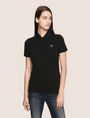 ARMANI EXCHANGE CLASSIC CIRCLE INSIGNIA POLO S/L Knit Top Woman f