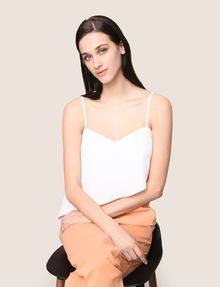 ARMANI EXCHANGE ASYMMETRICAL TIERED CAMISOLE S/S Knit Top Woman a