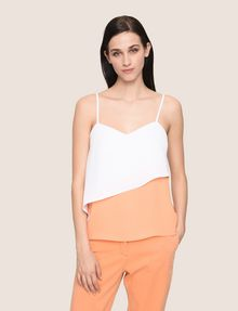 ARMANI EXCHANGE ASYMMETRICAL TIERED CAMISOLE S/S Knit Top Woman f