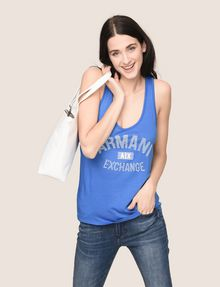 ARMANI EXCHANGE CLASSIC CURVED LOGO TANK Tank top Woman a
