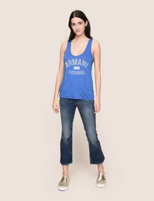 ARMANI EXCHANGE CLASSIC CURVED LOGO TANK Tank top Woman d