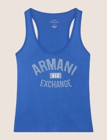 ARMANI EXCHANGE CLASSIC CURVED LOGO TANK Tank top Woman r
