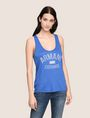ARMANI EXCHANGE CLASSIC CURVED LOGO TANK Tank top Woman f