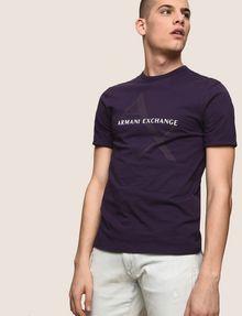 ARMANI EXCHANGE CLASSIC DIAGONAL LOGO TEE Logo T-shirt Man a