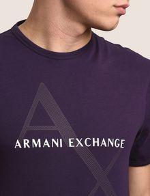 ARMANI EXCHANGE CLASSIC DIAGONAL LOGO TEE Logo T-shirt Man b