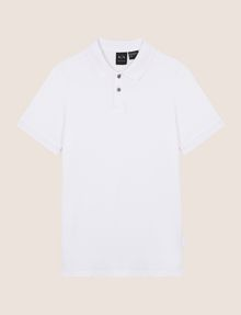 ARMANI EXCHANGE CLASSIC TIPPED COLLAR PIQUE POLO SHORT SLEEVES POLO Man r