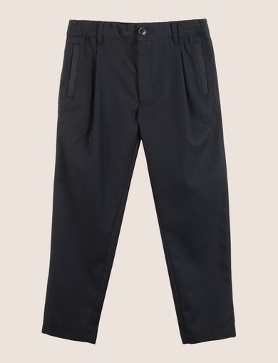 BOYS PLEAT-FRONT ELASTIC WAIST PANT
