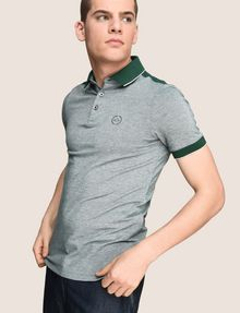 ARMANI EXCHANGE BICOLOR CIRCLE INSIGNIA POLO SHORT SLEEVES POLO [*** pickupInStoreShippingNotGuaranteed_info ***] a