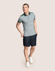 ARMANI EXCHANGE BICOLOR CIRCLE INSIGNIA POLO SHORT SLEEVES POLO [*** pickupInStoreShippingNotGuaranteed_info ***] d