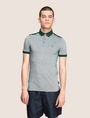 ARMANI EXCHANGE BICOLOR CIRCLE INSIGNIA POLO SHORT SLEEVES POLO [*** pickupInStoreShippingNotGuaranteed_info ***] f