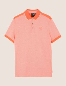 ARMANI EXCHANGE BICOLOR CIRCLE INSIGNIA POLO SHORT SLEEVES POLO Man r