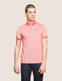 ARMANI EXCHANGE BICOLOR CIRCLE INSIGNIA POLO SHORT SLEEVES POLO Man f