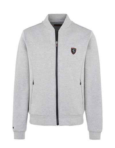 Scuderia Ferrari Online Store - Full-zip scuba sweatshirt - Zip Sweaters