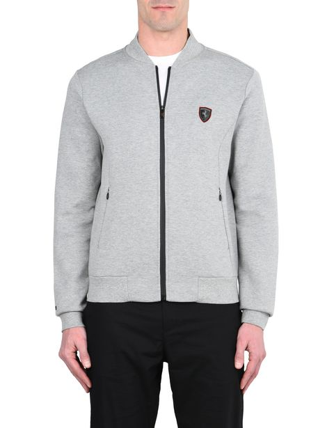 Full-zip scuba sweatshirt