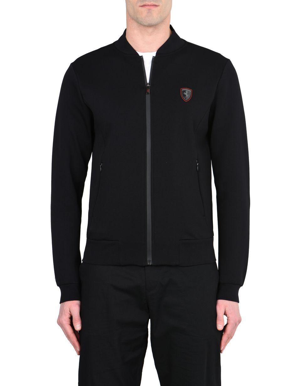 Scuderia Ferrari Online Store - Full-zip scuba sweatshirt - Zip Jumpers