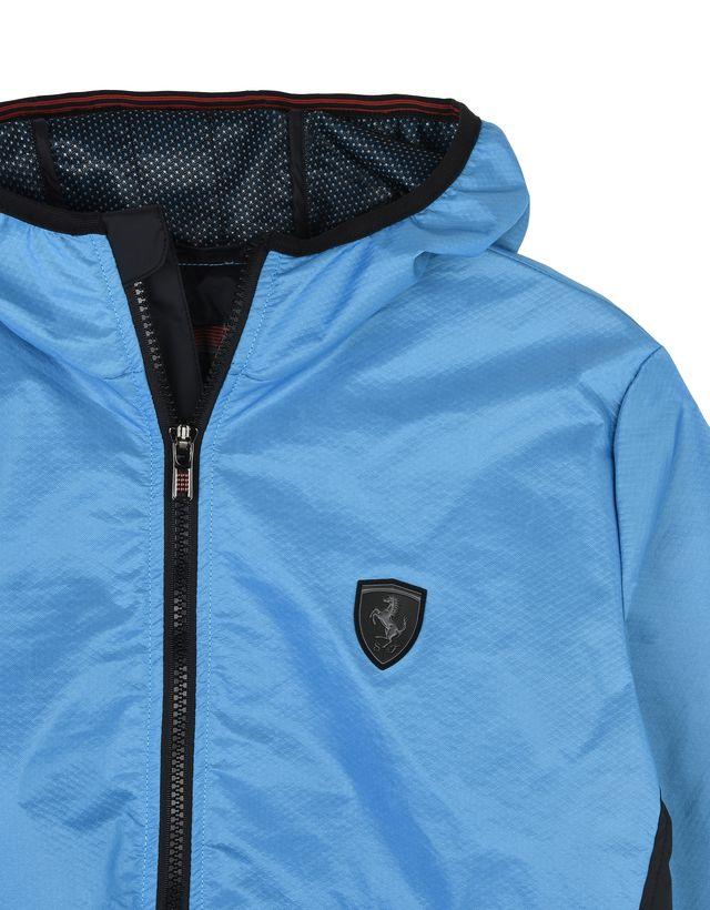Scuderia Ferrari Online Store - Женская куртка с капюшоном и логотипом Scudetto Ferrari на груди слева - Бомберы и гоночные куртки