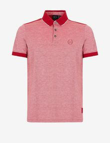ARMANI EXCHANGE BICOLOR CIRCLE INSIGNIA POLO SHORT SLEEVES POLO [*** pickupInStoreShippingNotGuaranteed_info ***] r