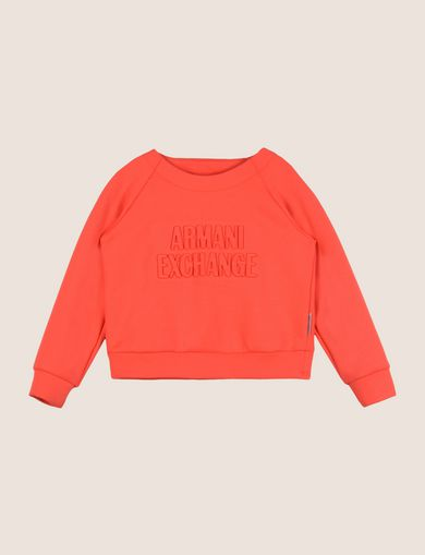 GIRLS DEBOSSED LOGO SWEATSHIRT TOP