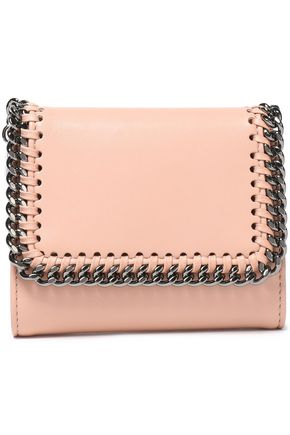 STELLA McCARTNEY Chain-trimmed faux leather wallet