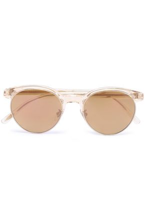 OLIVER PEOPLES D-frame acetate and gold-tone sunglasses