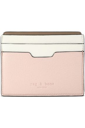 RAG & BONE Color-block leather cardholder